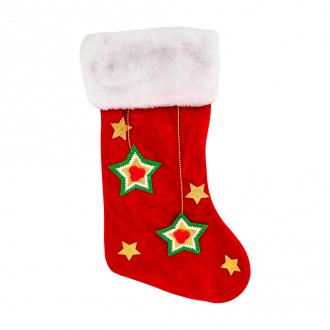 Носок новогодний подарочный, Снежное кружево, 45 см, в ассортименте
