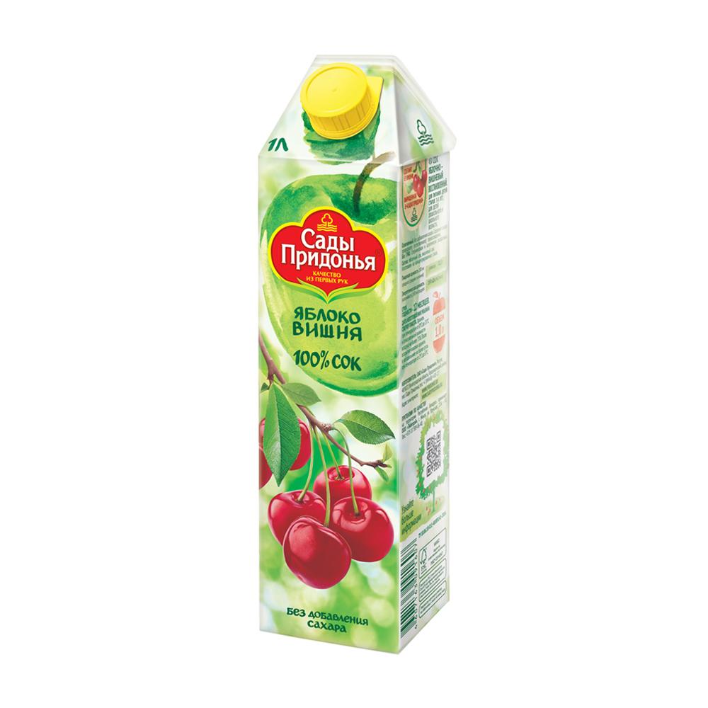 Сок, Сады Придонья, яблоко/вишня, 1 л