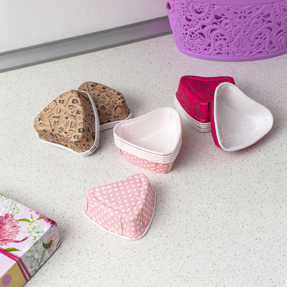 Набор бумажных форм для выпечки, O'Kitchen, 6 шт., в ассортименте