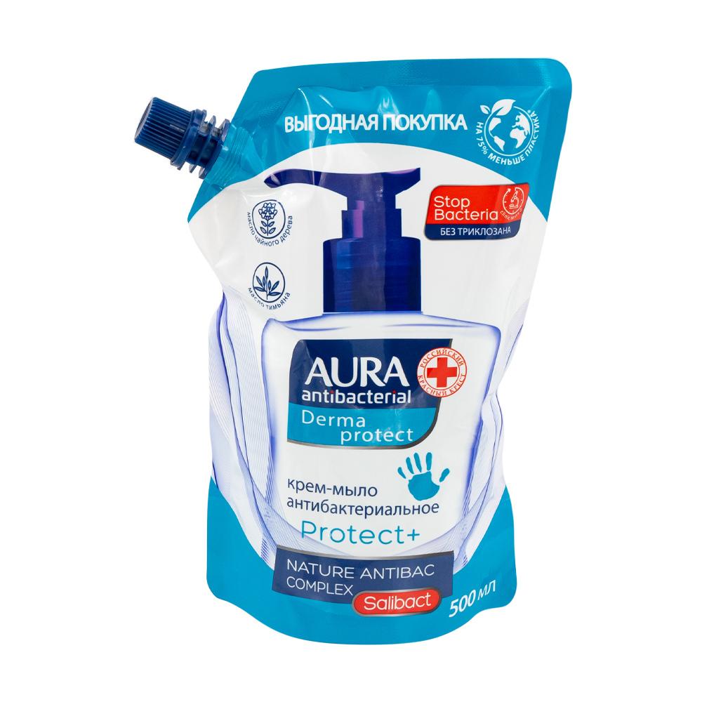 Крем-мыло антибактериальное, Aura, 500 мл
