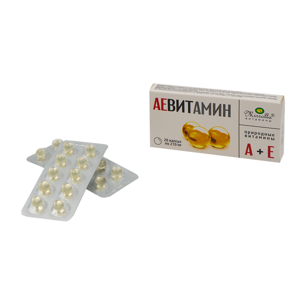"""БАД """"АЕВИТАМИН"""", Mirrolla, 20 капсул по 270 мг"""