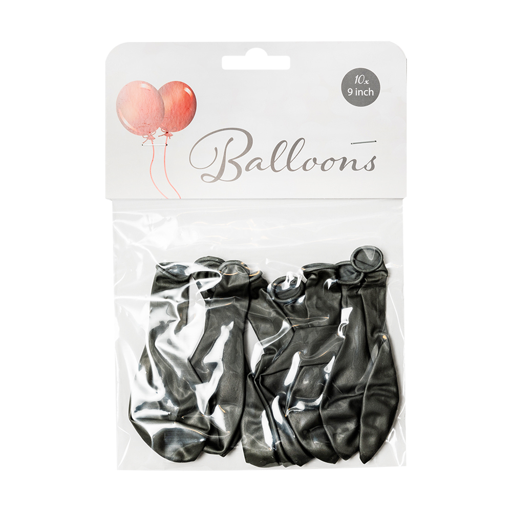 Gaisa baloni Metallic Silver, 10gab