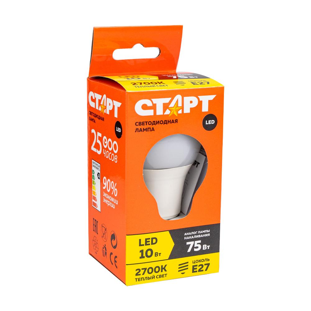 Лампа светодиодная, Старт, 10 Вт, Е27 А3