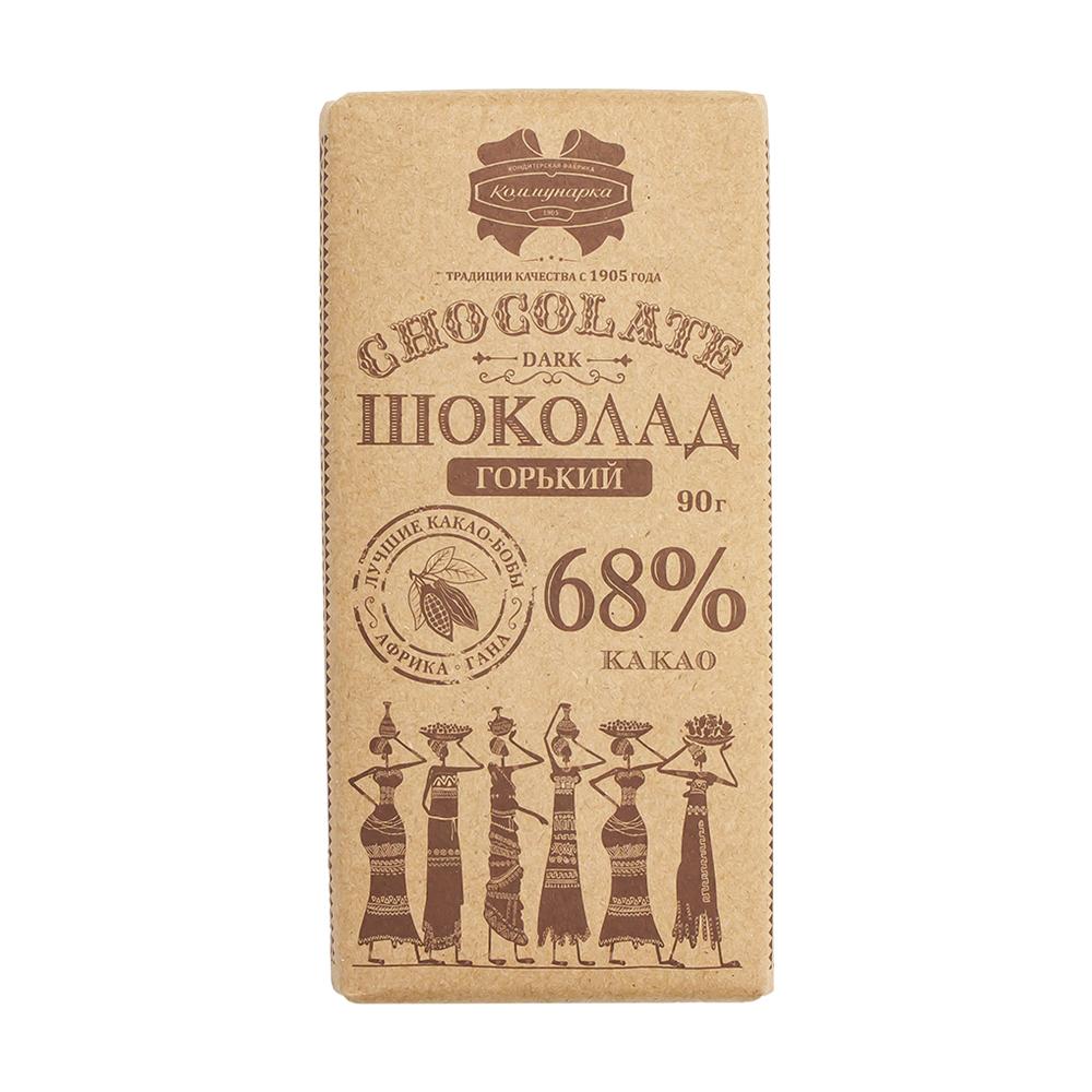 Шоколад десертный горький, 68%, 90 г