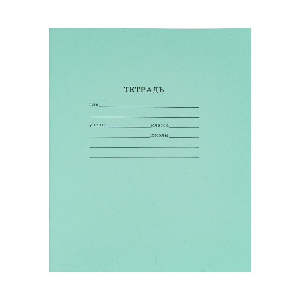Тетрадь школьная в линейку, А5, 12 листов