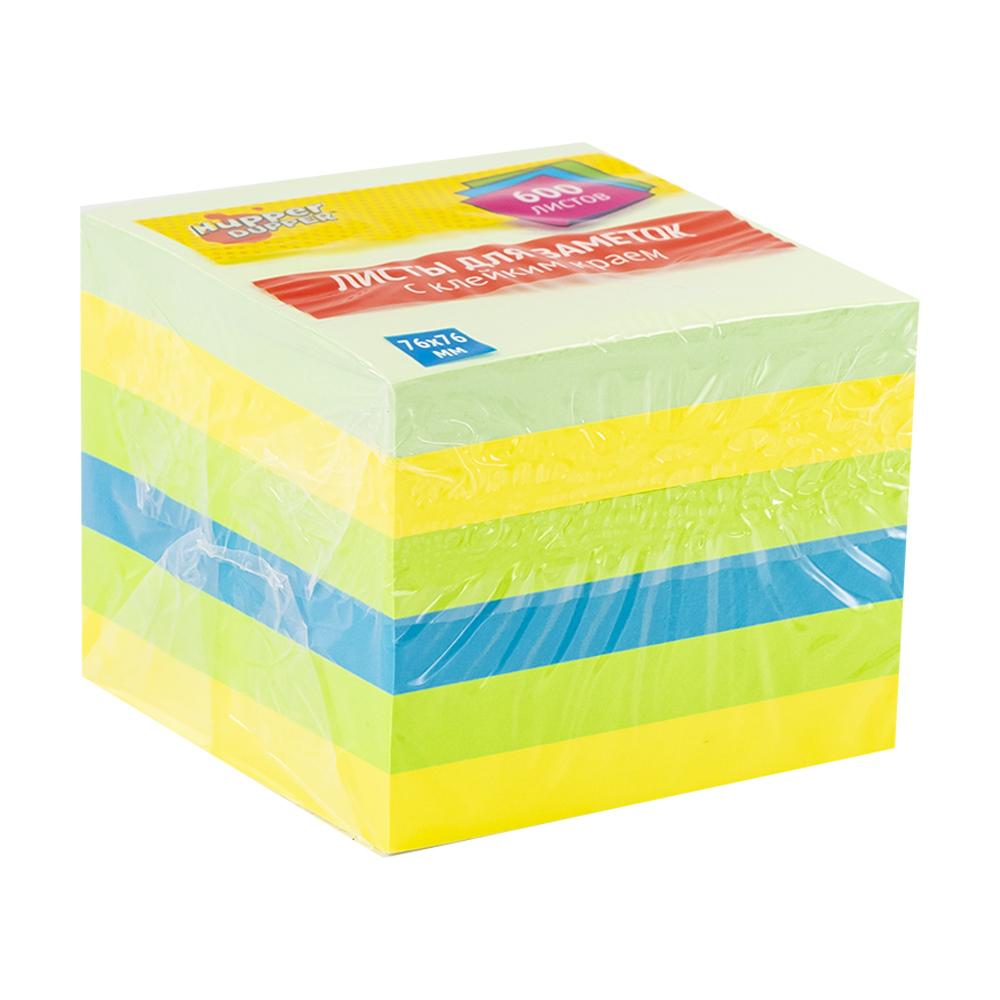 Блок листов для заметок с клейким краем, Hupper Dupper, 600 шт.
