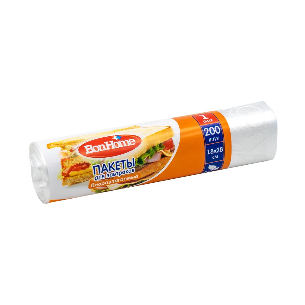Пакеты для завтраков, BonHome, 1 л, 200 шт.