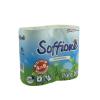 Туалетная бумага Soffione, 2 слойная, 4 рулона
