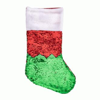 Носок для подарков с пайетками