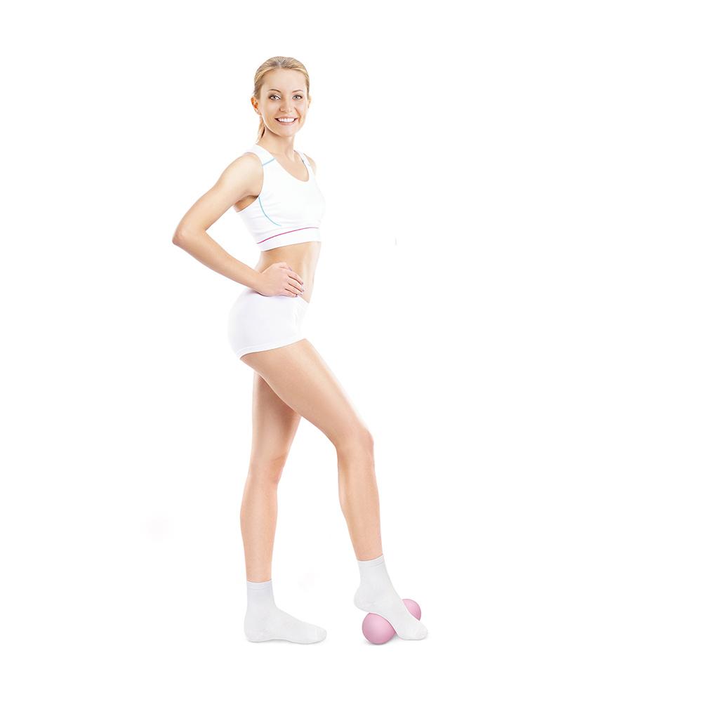 Мячик массажный двойной, 14х6 см, в ассортименте