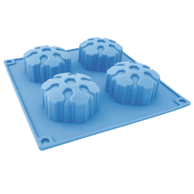 Форма силиконовая для выпечки, 4 шт