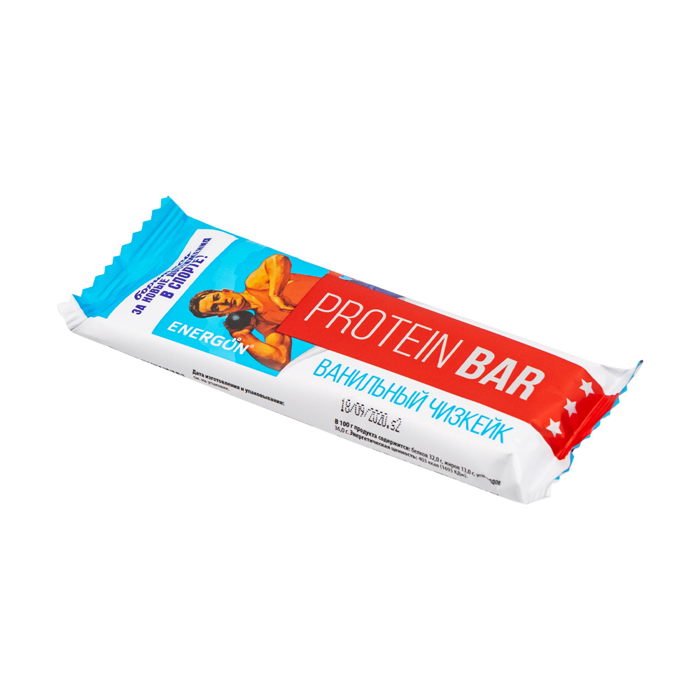 """Протеиновый батончик """"Protein Bar"""", ENERGON, ванильный чизкейк, 60 г"""