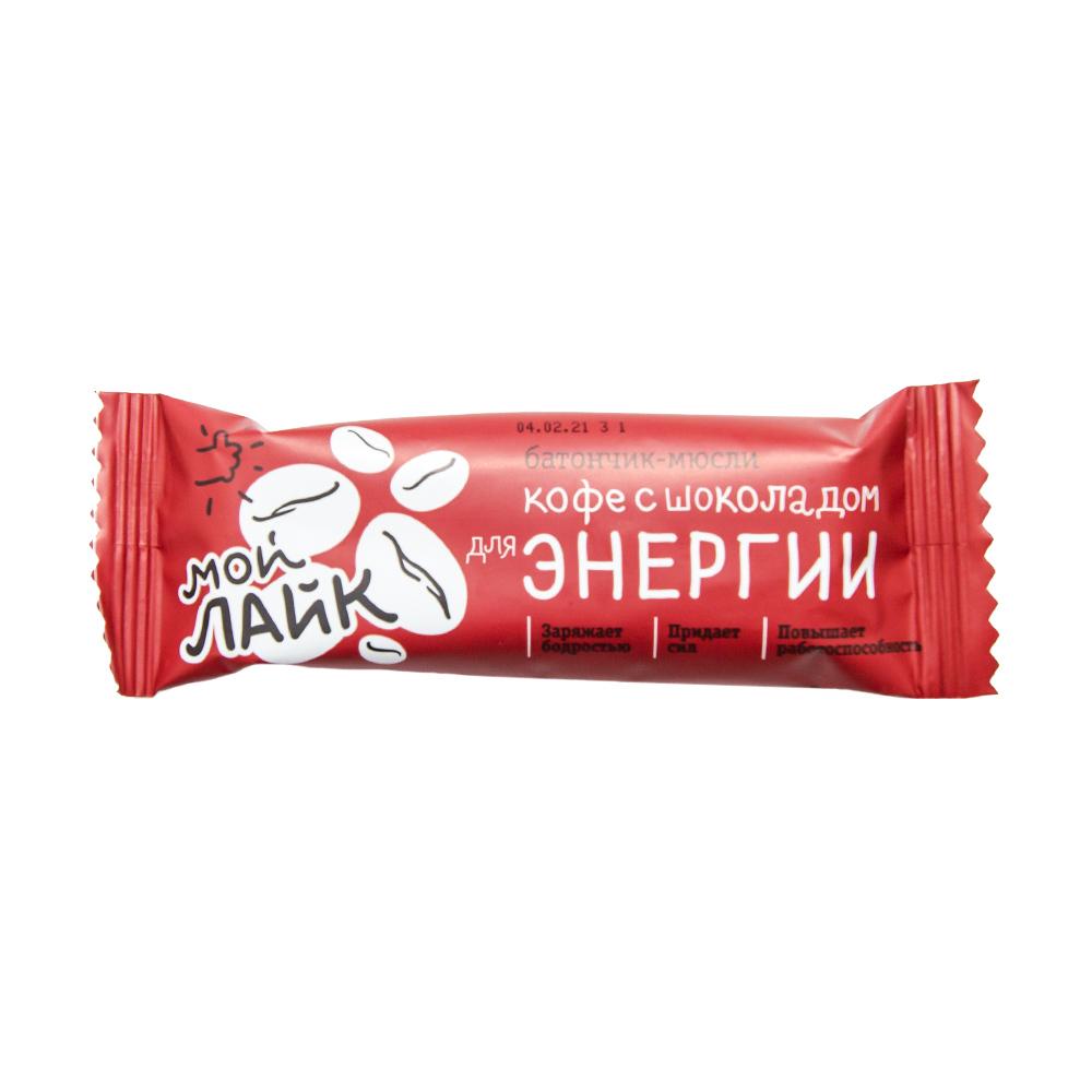 Батончик-мюсли, Мой Лайк, кофе с шоколадом, 25 г