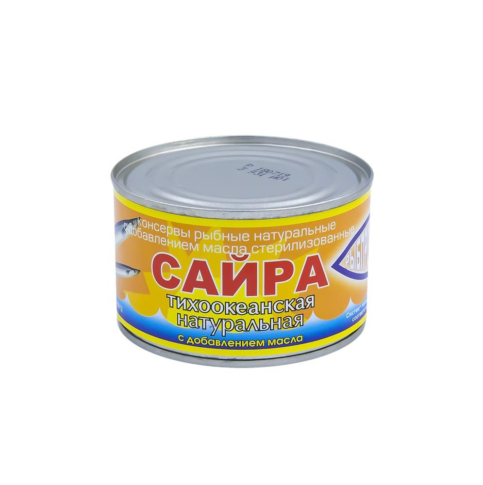Сайра тихоокеанская с добавлением масла, 230 г