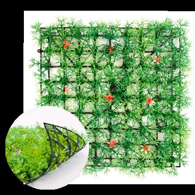 """Настил """"Трава искусственная с цветами"""", 25х25 см"""