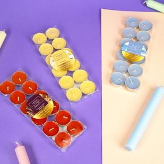 Свечи чайные ароматизированные, 12 шт., в ассортименте