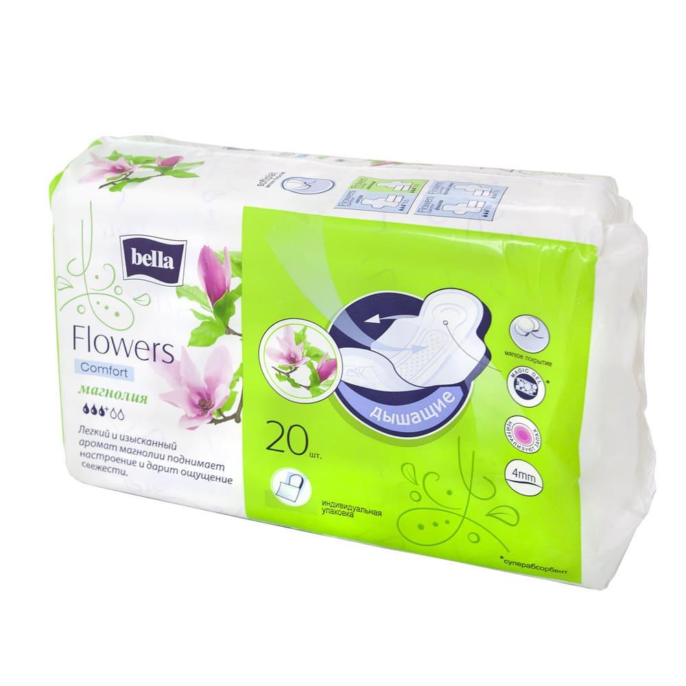 Гигиенические прокладки, Bella, Flowers Comfort, 20 шт., в ассортименте