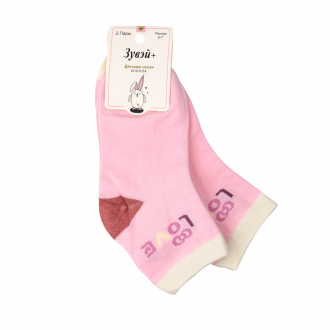 Носки для девочек, Зувэй, 2 пары, в ассортименте