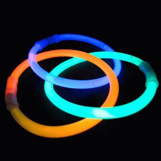 Неоновые палочки-браслеты, 10 шт.