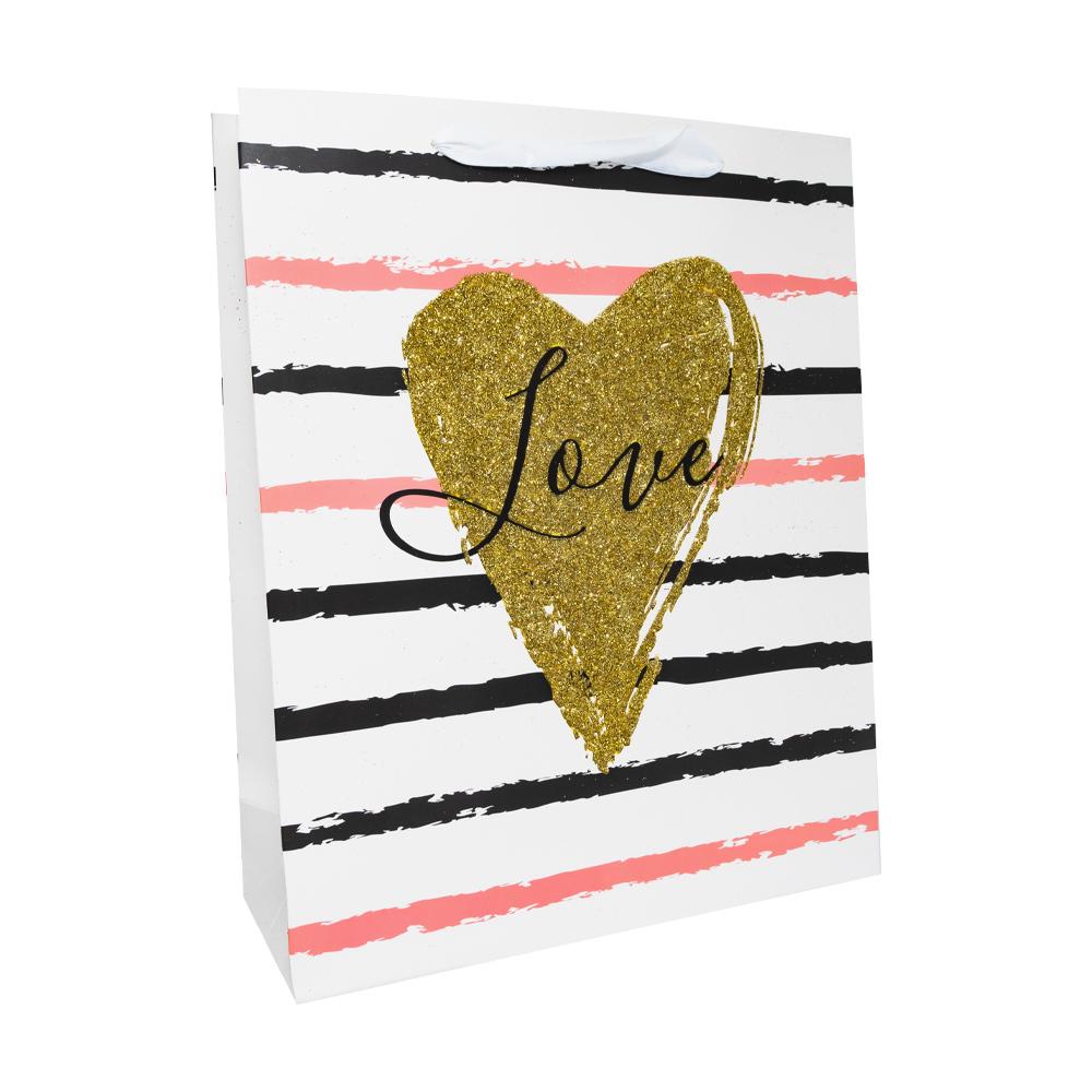"""Пакет подарочный """"Любовь"""", With Love, 26х10х32 см, в ассортименте"""
