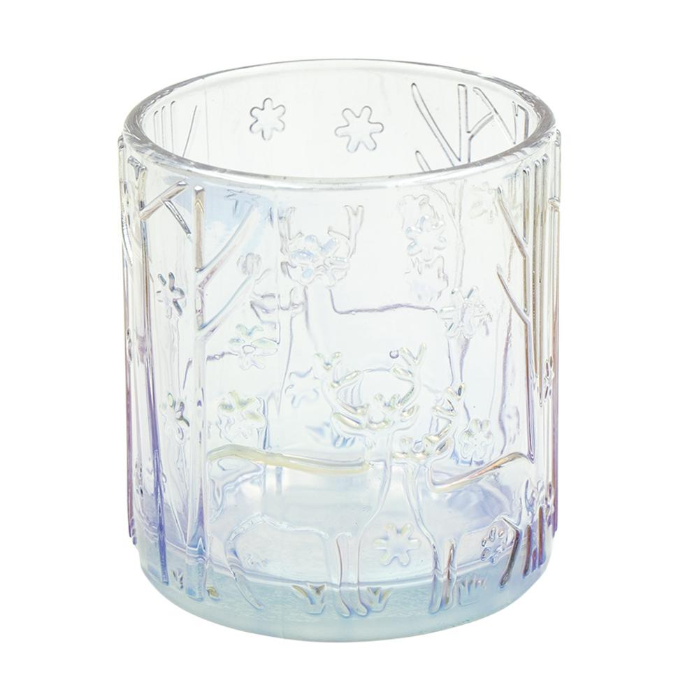 Подсвечник новогодний, Снежное кружево, 8 см, в ассортименте