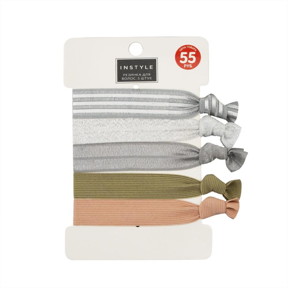 Резинка для волос, Instyle, 5 шт., в ассортименте