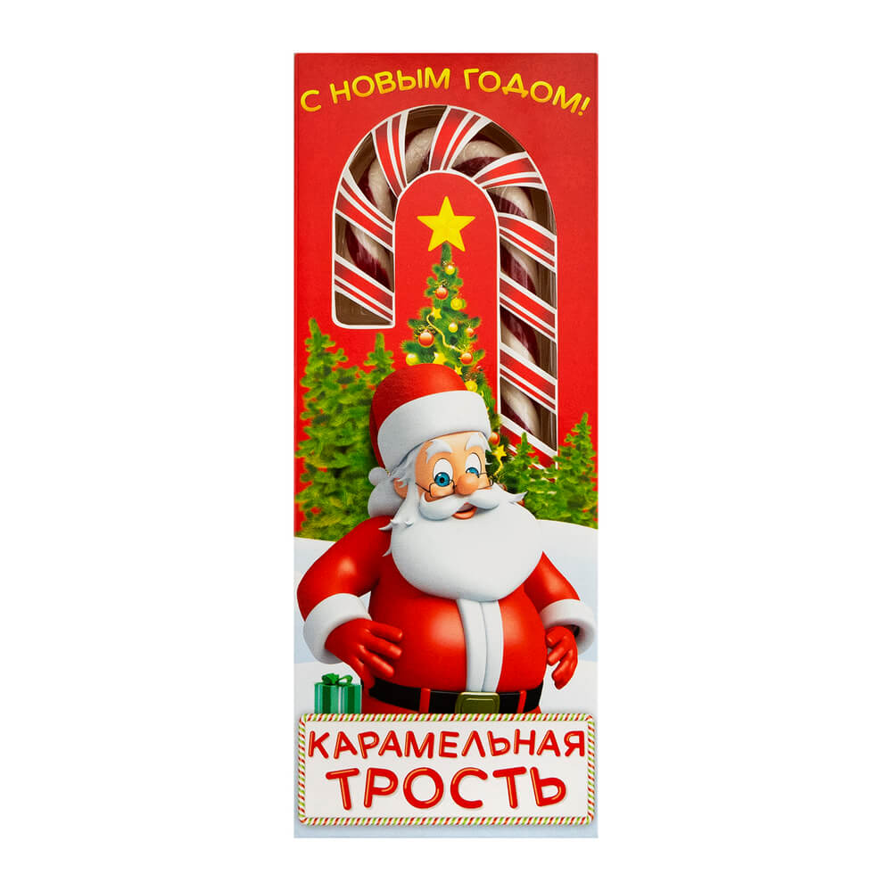 Новогодняя карамельная трость, 40 г