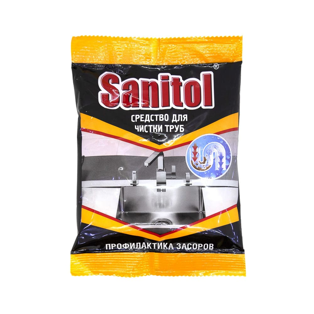 Средство для чистки труб Sanitol, 90 гр