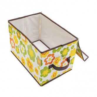 Коробка складная с крышкой, Home Time, 38х25х25 см, в ассортименте