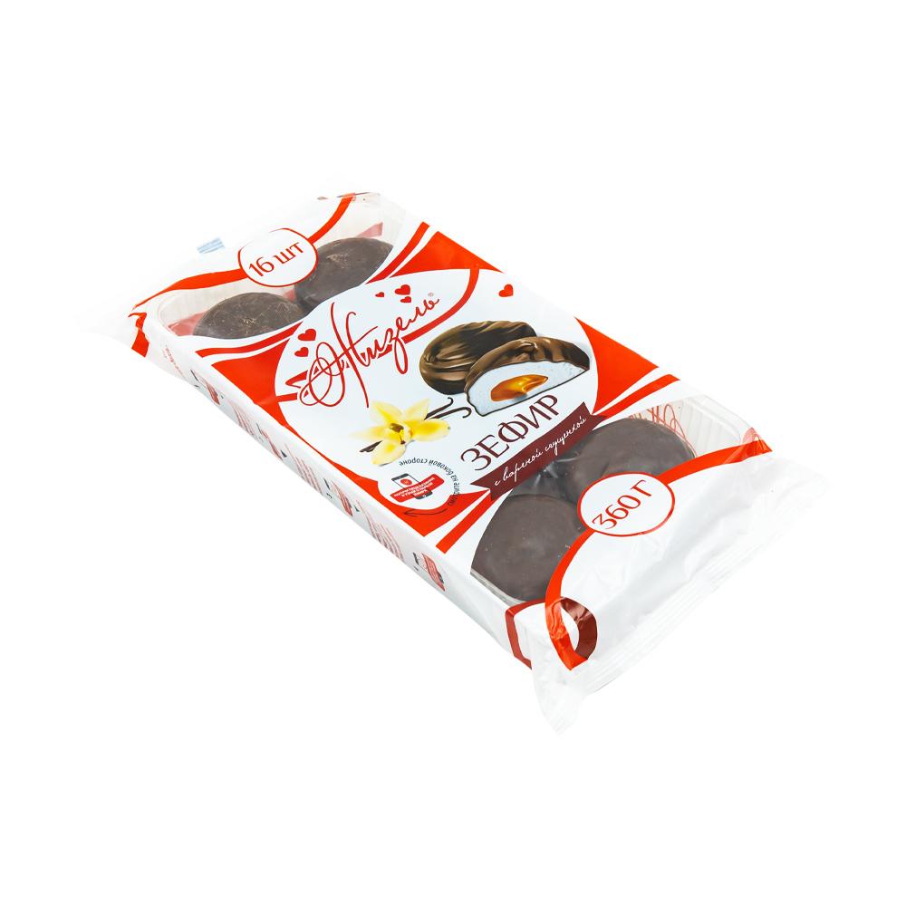 """Зефир """"Жизель"""" с начинкой со вкусом варёной сгущенки, глазированный, 360 г"""