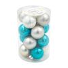 Набор стеклянных елочных шаров, Снежное кружево, 16 шт., в ассортименте