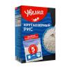Рис круглозерный в пакетиках для варки, Увелка, 5 шт., 400 г