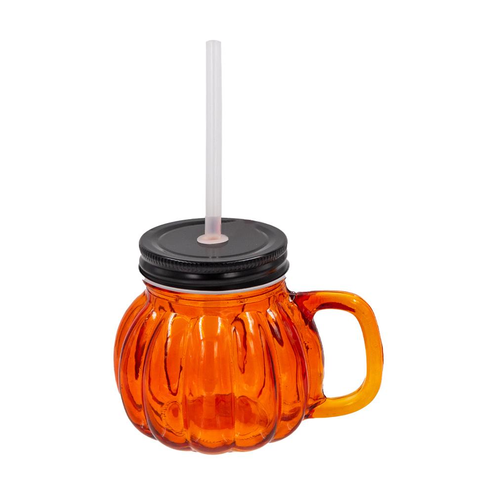 Чашка c трубочкой, O'Kitchen, 380 мл, в ассортименте