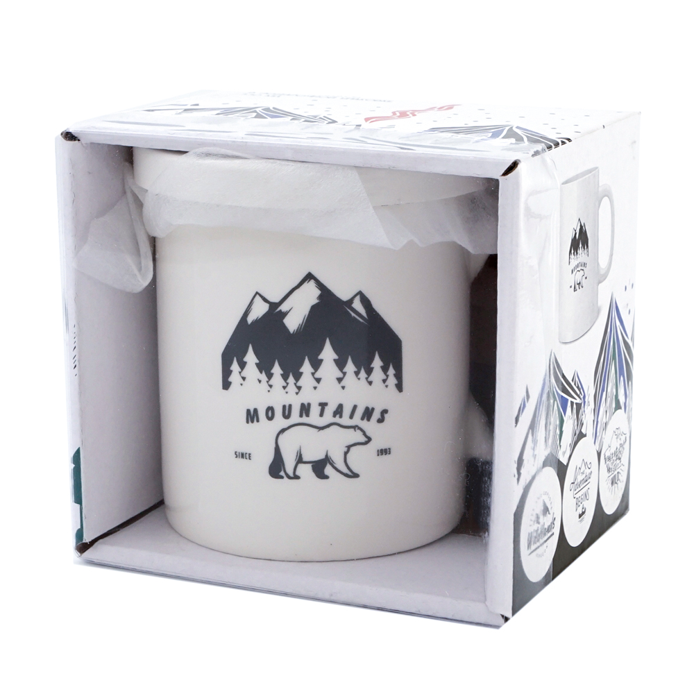 Чашка с крышкой в подарочной упаковке, Men's Direction, 330 мл, в ассортименте