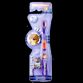 Детская зубная щётка, UltraDent, с игрушкой-ластиком